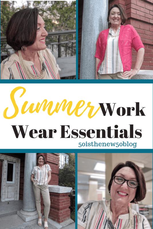 Summer work wear essentials for business casual office wear.