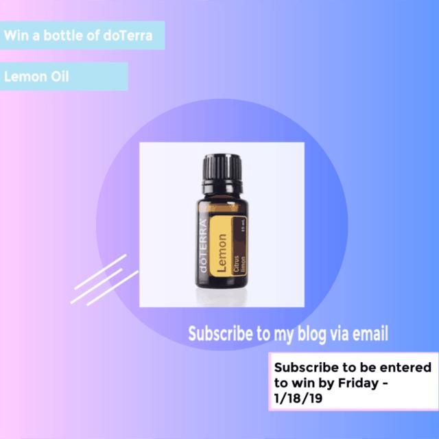 win a bottle of doTerra lemon essential oil