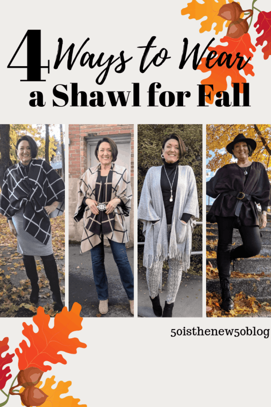 4 ways to wear a shall for fall.