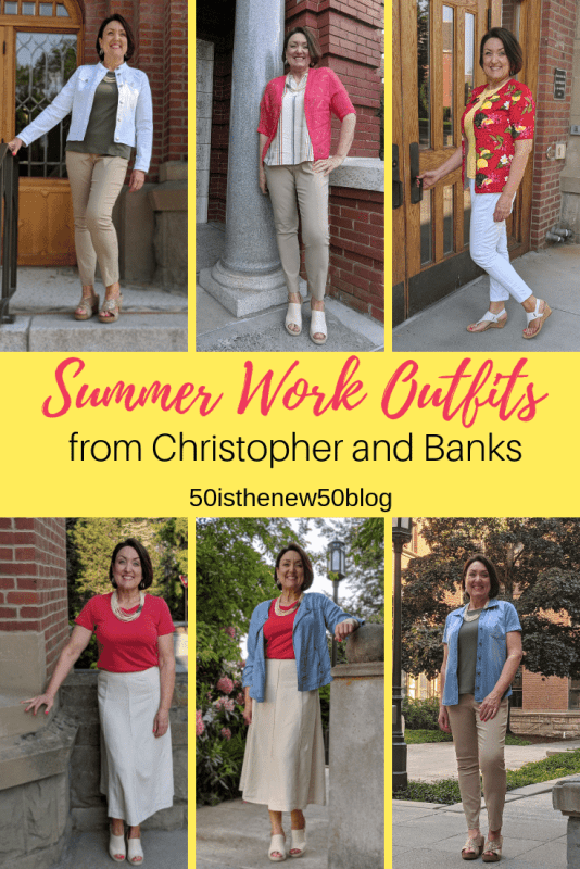 Summer work outfits from Christopher and Banks