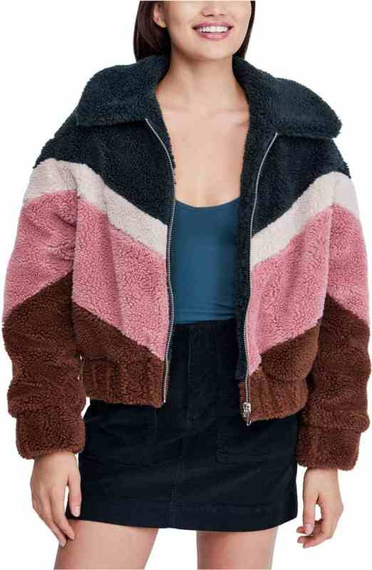 Urban Outfitters Chevron Teddy Coat Nordstrom Winter Sale