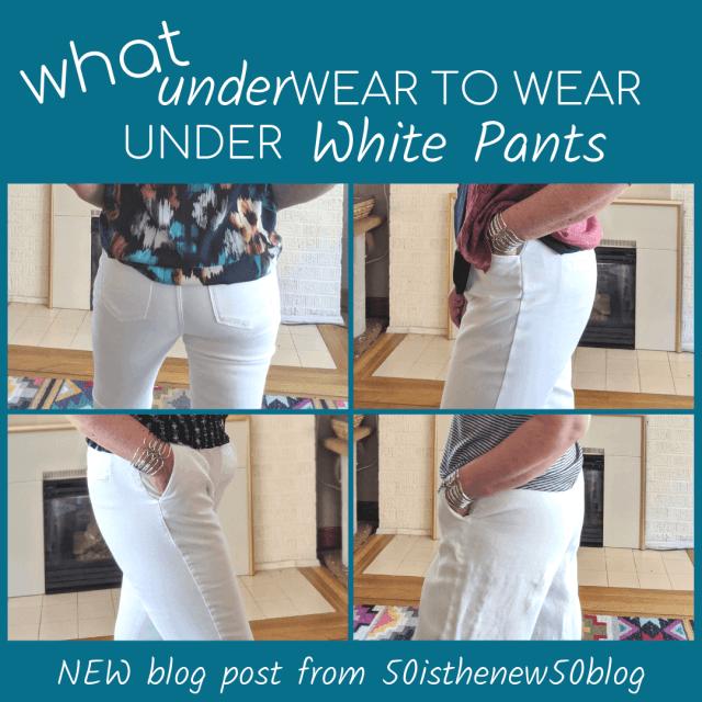 What underwear to wear under white pants blog post.