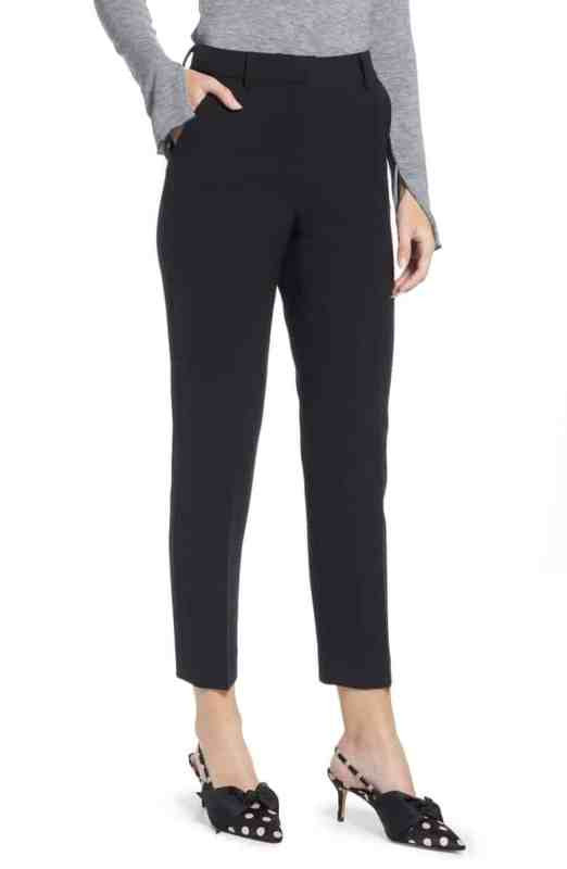 Something Navy Flat Front Trousers Nordstrom Winter Sale
