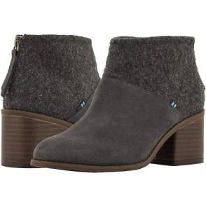 grey slate felt suede toms booties