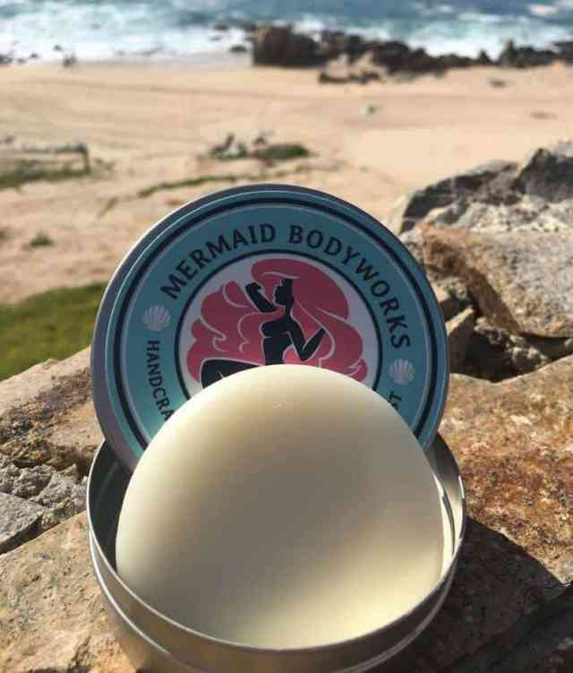 switch to handmade bath products mermaid lotion bar coconut handmade with kukui nut oil shea butter