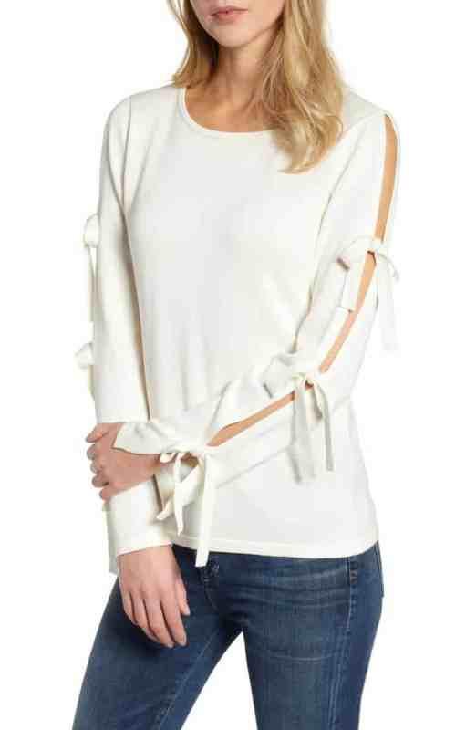CeCe Bow Sleeve Sweater Nordstrom winter sale