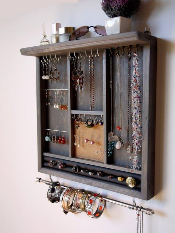 etsy wall jewelry organizer