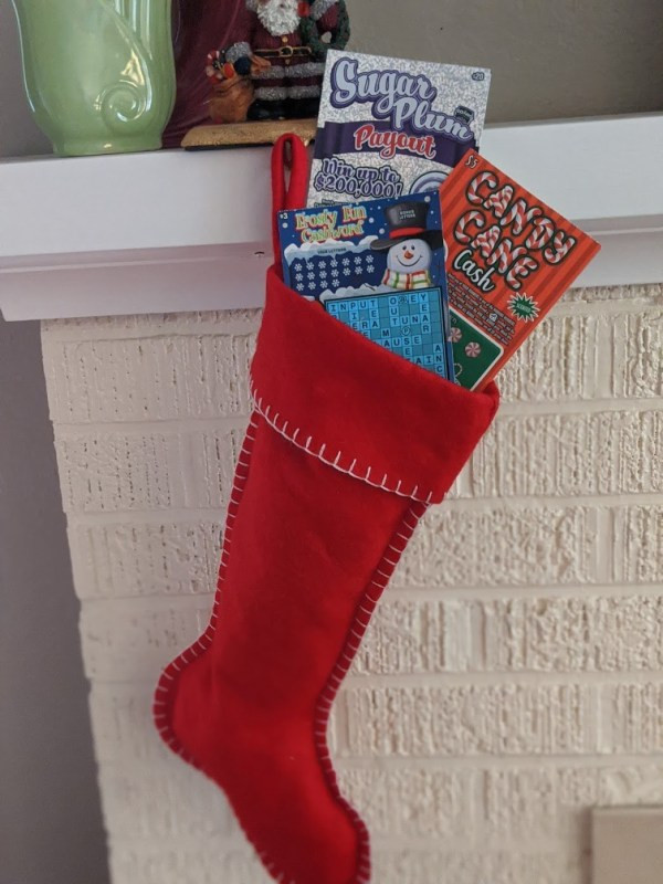 A stocking full of Idaho Lottery Holiday Scratch Games