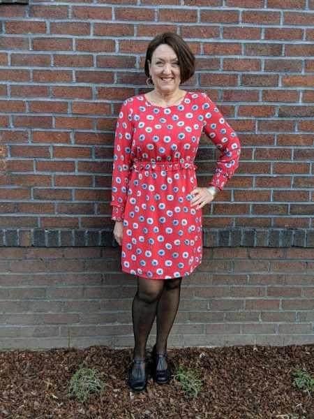 JCrew Red Floral Dress   Earth Wanderlust MaryJane Pumps