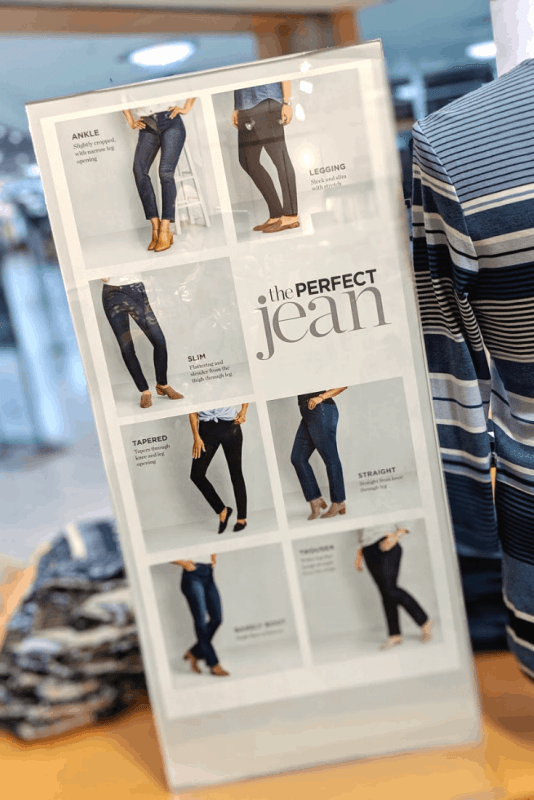 Find the perfect jean fit at christopher and banks