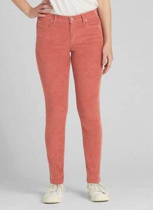 coral corduroy pants gap skinny leg