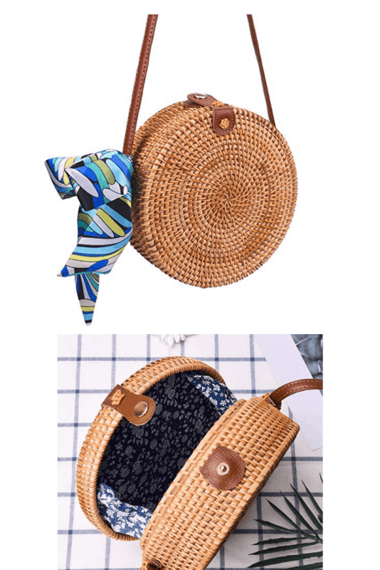 Shop this fun shaped round handwoven straw bag purse.#summerbags