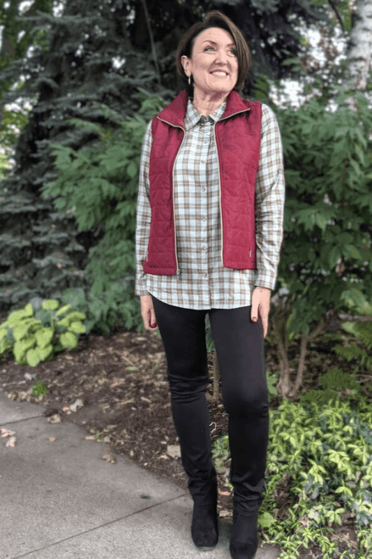 A quilted vest is one of the most versatile pieces of clothing you can have in your closet all year round!