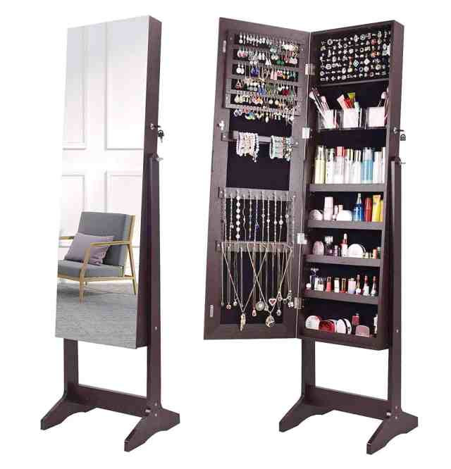 Aoou jewelry organizer armoire on amazon
