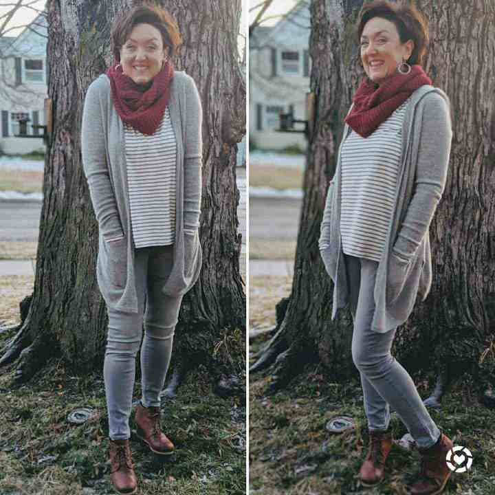 what I wore this week cozy comfy cashmere cardigan