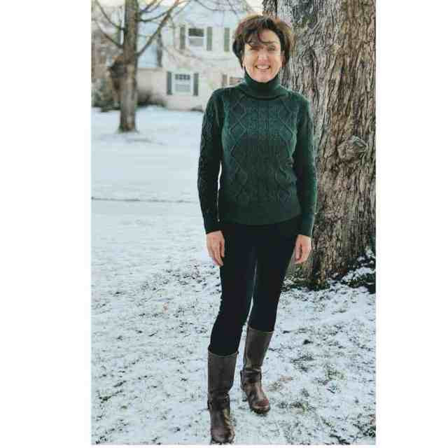 what i wore this week emerald green turtleneck