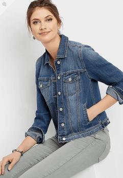 Traditional Medium Wash Denim Jacket