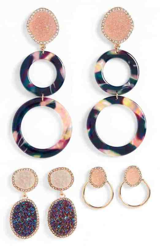 Baublebar Set of 3 Hoop & Drop Earrings Nordstrom winter sale