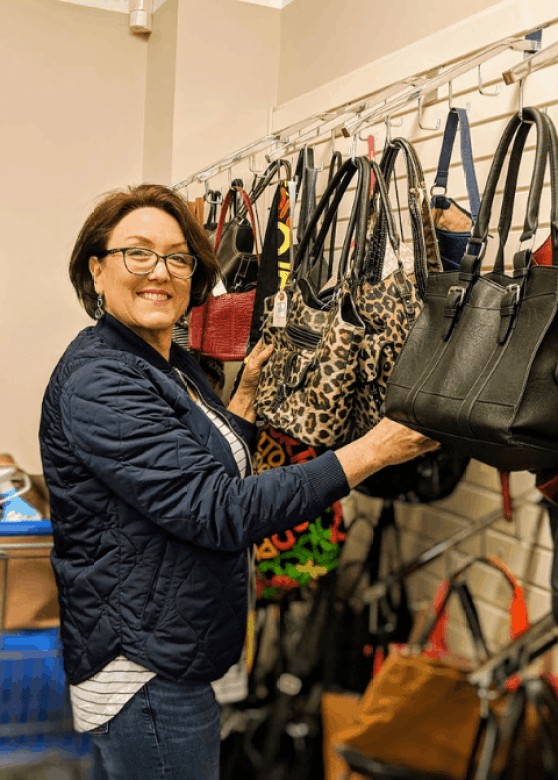 Used bags and purses from consignment store or thrift shop
