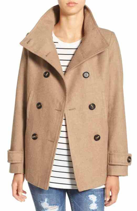 Thread & Supply Double Breasted Peacoat Nordstrom winter sale