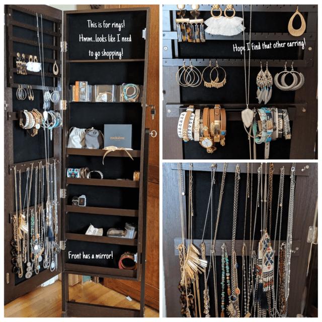 How I organzie my jewelry with theAoou jewelry organizer armoire on amazon
