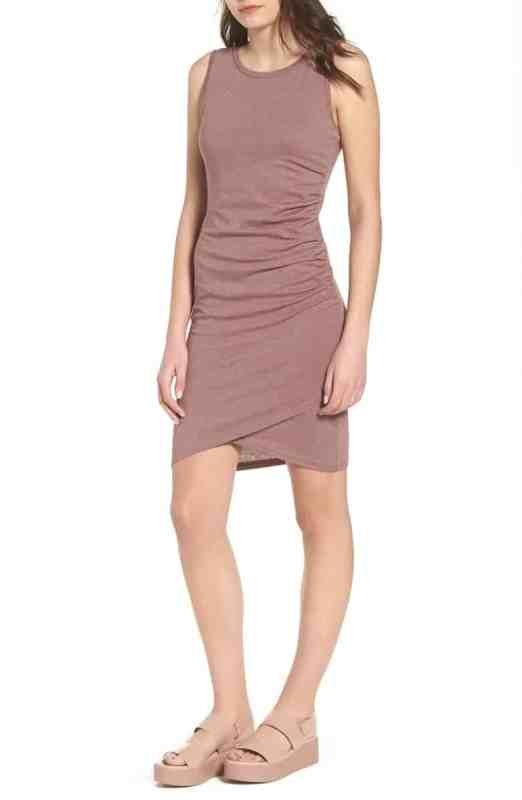 Leith Ruched Tank Dress Nordstrom Winter Sale