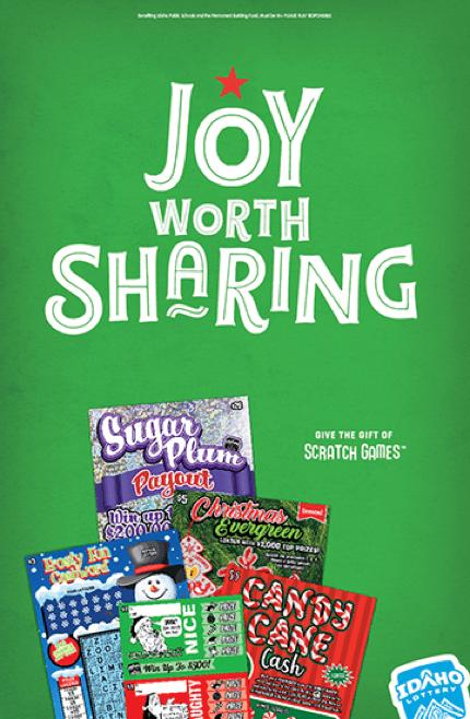 Idaho Lottery Joy Worth Sharing #joyworthsharing campaign