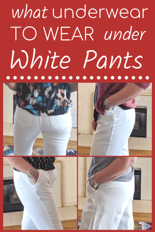 Sharing what underwear to wear under white pants and jeans.  No more show through undies when you learn these fashion tips and tricks.