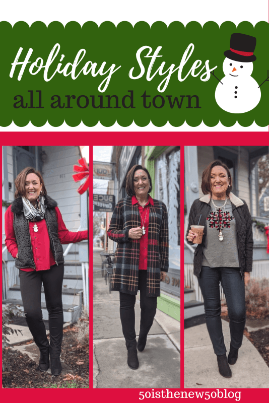 Holiday outfits from Christopher and Banks you can wear all around town!
