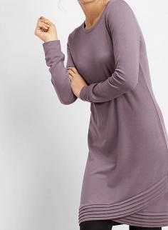 Tulip Hem Sweater Dress
