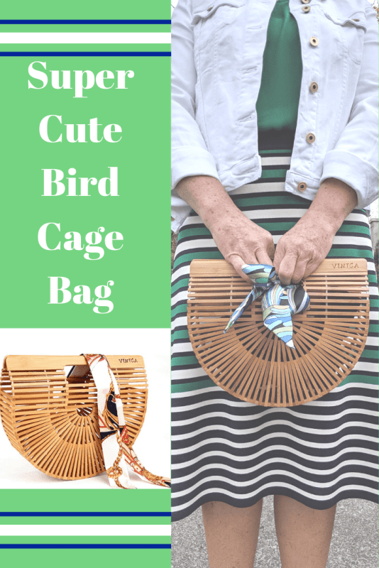This bamboo slat birdcage bag is the hottest Summer bag trend for 2019. #summerfashion2019