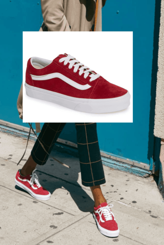 Old Skool Suede Sneakers from Vans in this fun Skooter Red are such a great deal right now during the Nordstrom Anniversary sale