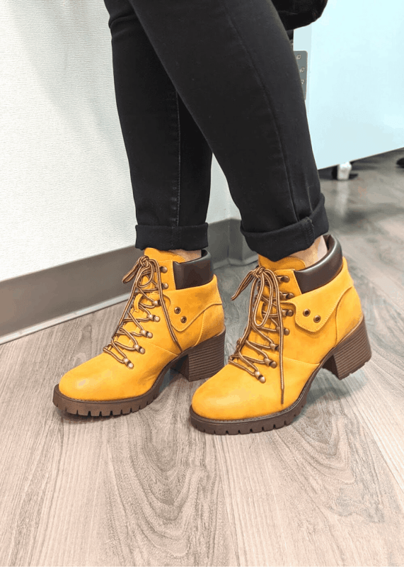 Lug sole hiker boots with cute heel from Maurices