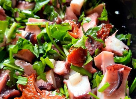 Poulpe en salade