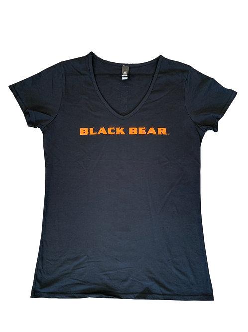 Black Bear Women's V-Neck Tee Design 1