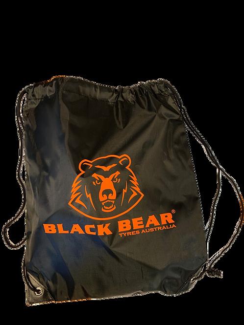 BLK BEAR DRAW STRING BAG