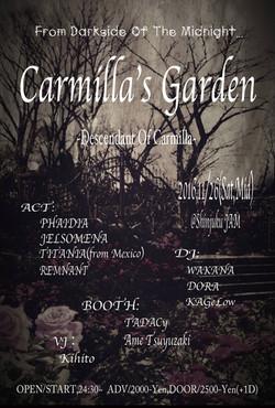 Carmilla's Garden flyer