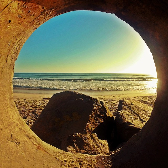 Light at the end of the tunnel #GoPro #GoProInTheHole #Sunset