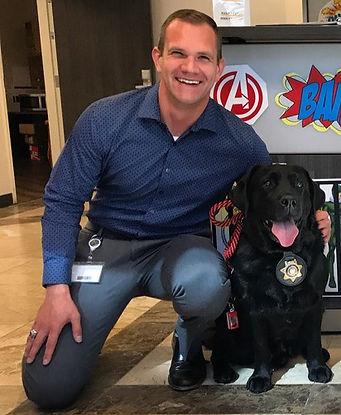 Greg Chase and an FBI Dog