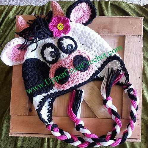 Crazy LulaBelle Cow Ear Flap Hat