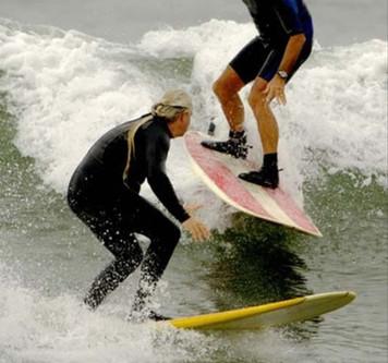 Surfista colilleros de la entre serie
