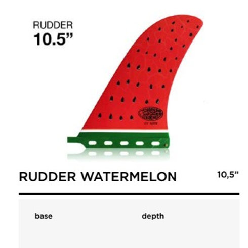 "RUDDER WATER MELON 10.5"""
