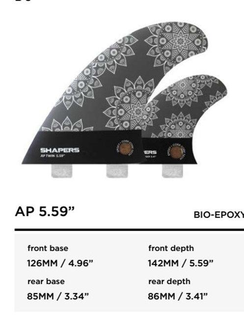 """AP 5.59"""" bio-epoxy FCS"""