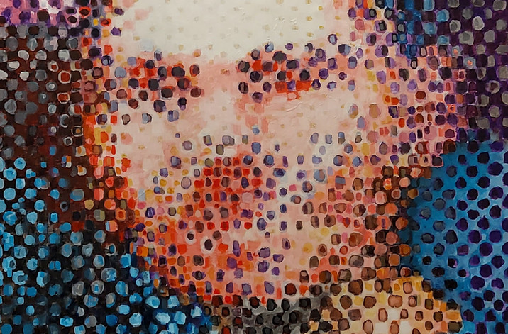 Glass 125 cm x 100 cm Acrylic om Canvas
