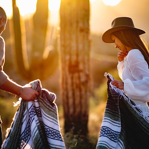 Alyssa & Josh's Engagement In The Desert