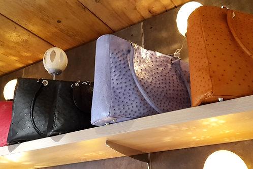 Handtasche aus Straußenleder