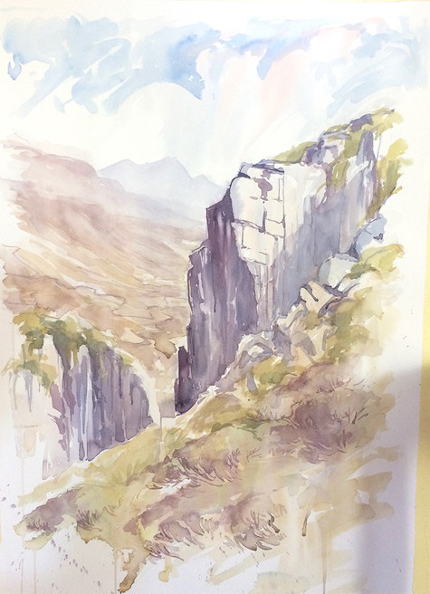Slieve Eagle Watercolour