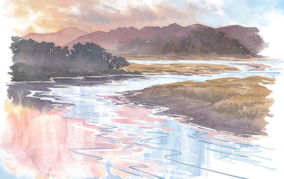Dyfi Valley- Sunset