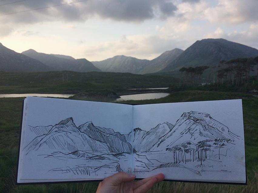 travel-reportage-connemara-sketchbook-de