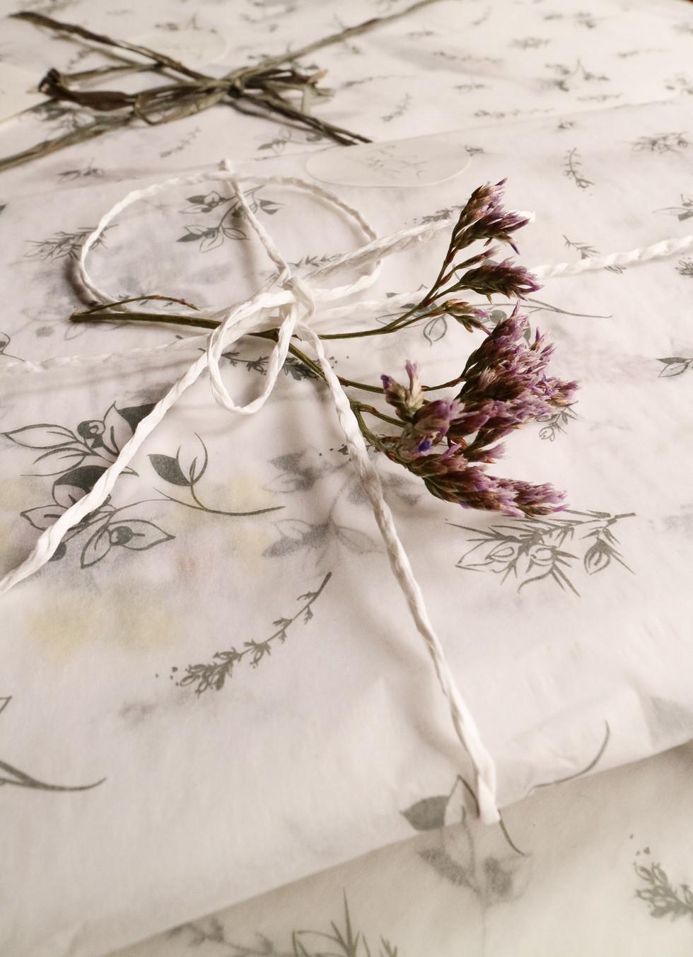 Custom Illustrated tissue paper